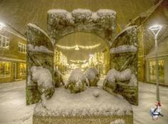 Første sne i Vordingborg