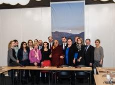 Dalai Lama med danske politikere.