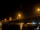 Måneformørkelse. Masnedsundbroen, Vordingborg